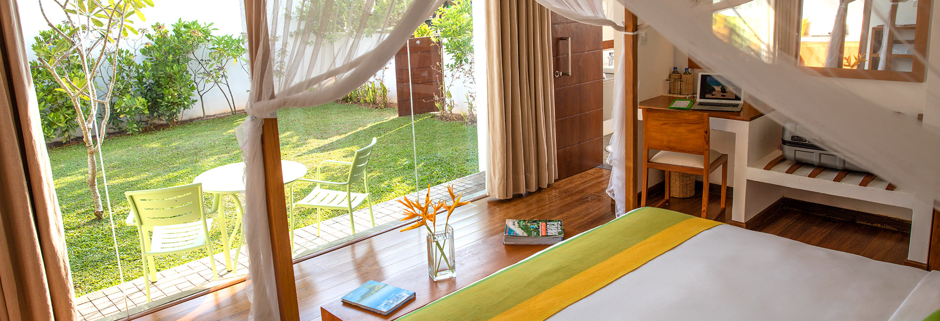 accommodation with a garden view