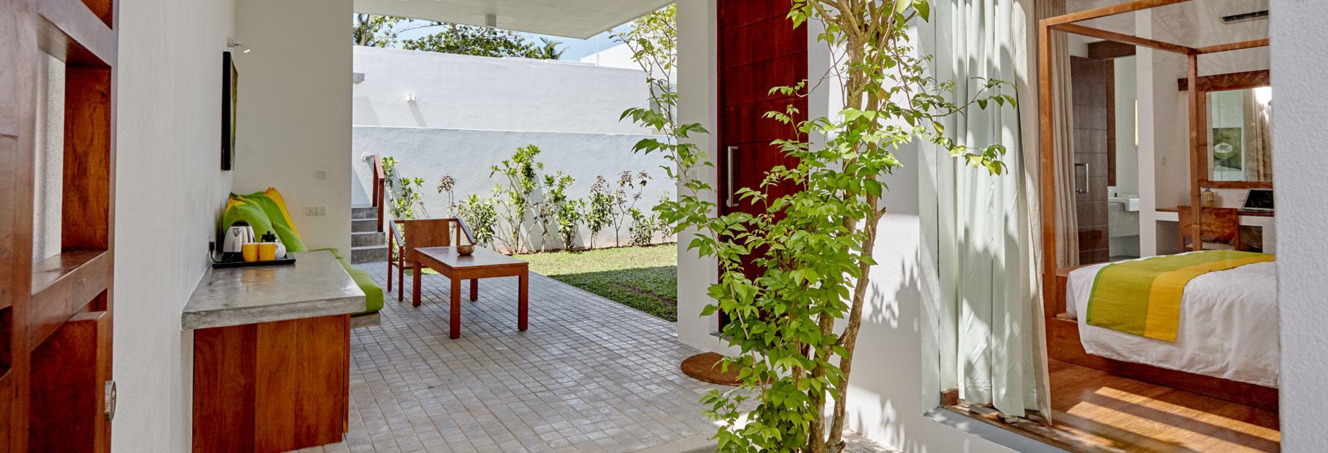 plant inside the villa