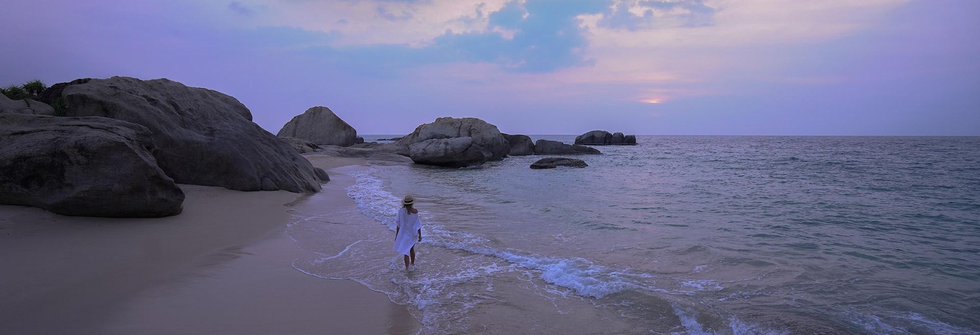 Walk on the beach at Dusk