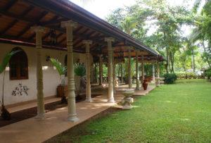 corridor by garden