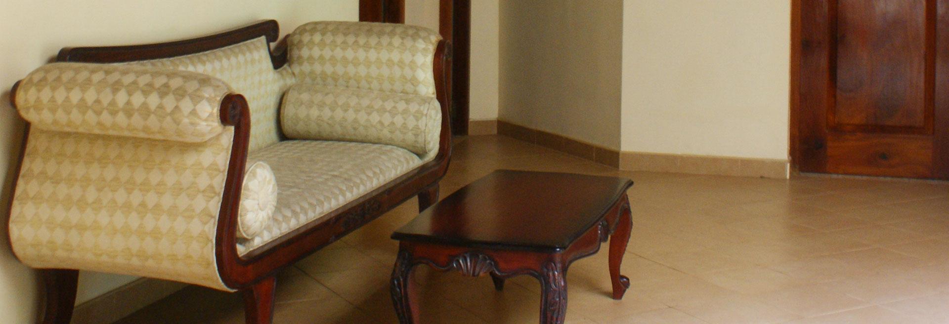 Indoor sitting area