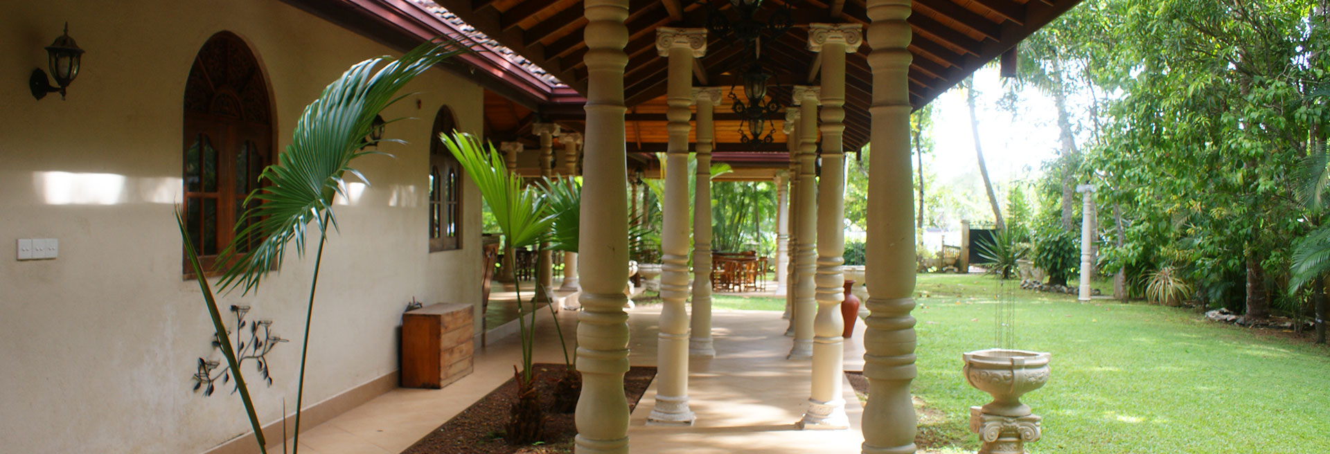 Walkway of the hotel