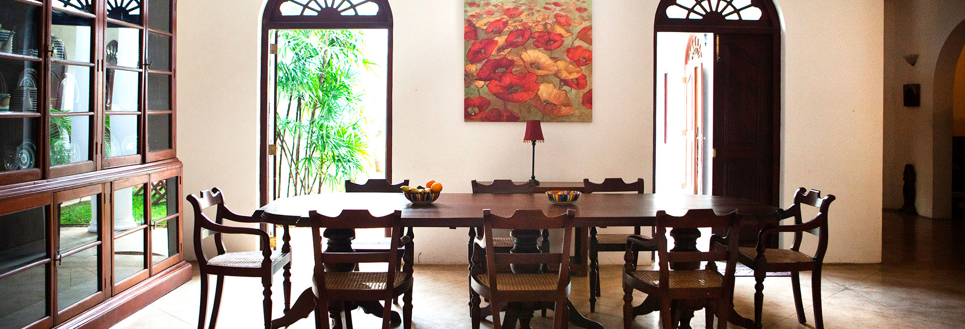 Dining table at Galle Heritage Villa