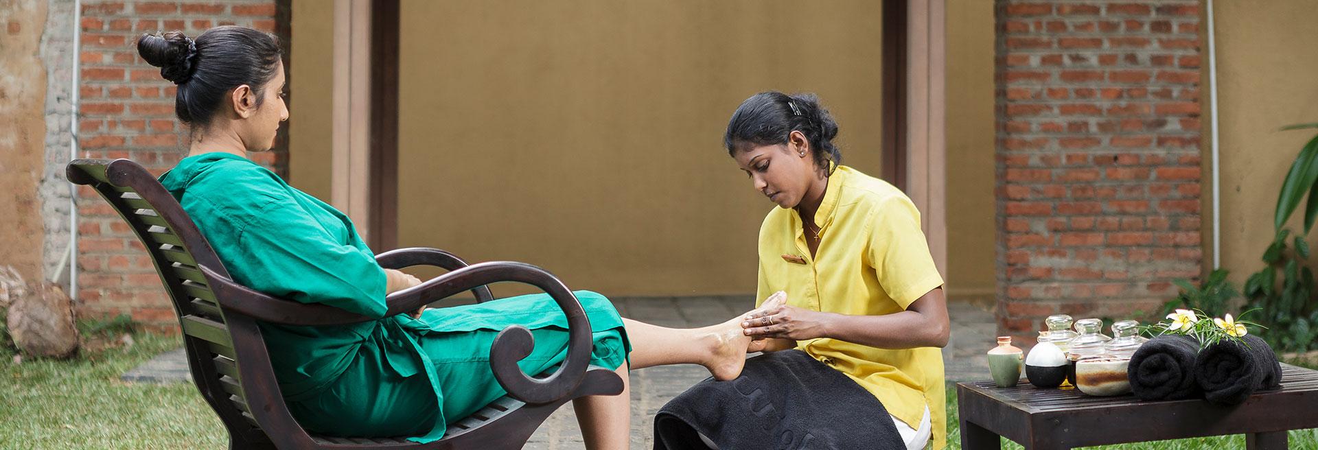 Comforting Foot Massage