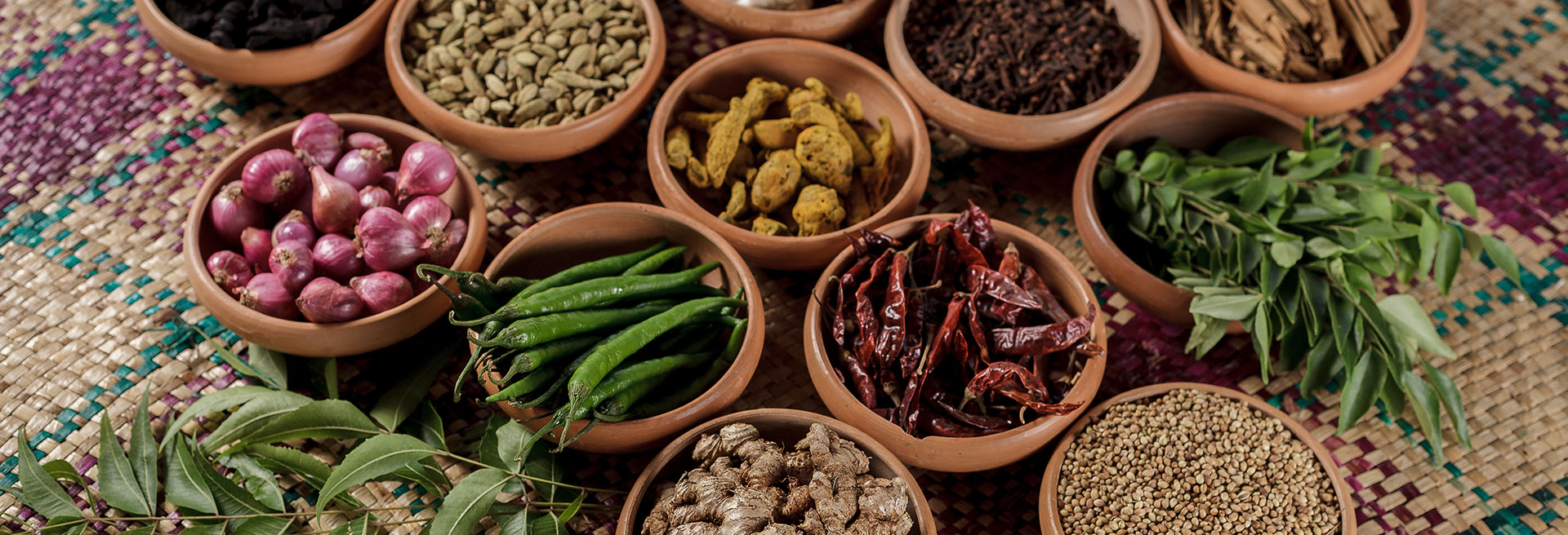Variety Of Sri Lankan Spices And Herbs