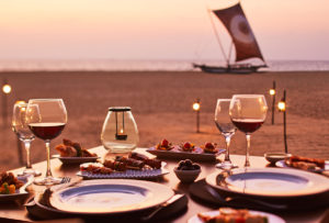 Wine and dine on the beach