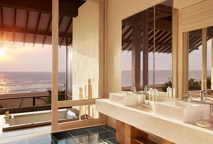 Private bathroom which opens up into the Negombo beach