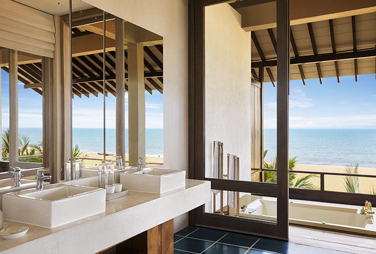 A modern bathroom which overlooks the Beach