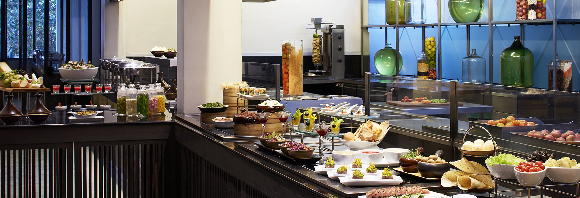 Buffet spread at the main restuarant