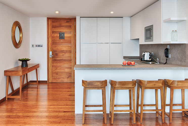 pantry and kitchen
