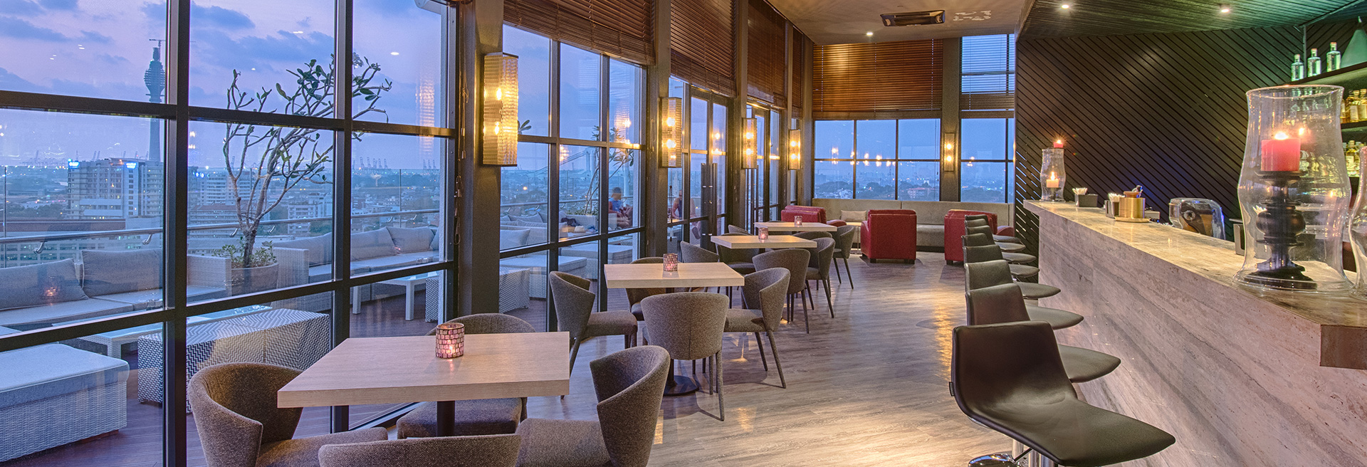 Luxury Dining At Rooftop Restaurant