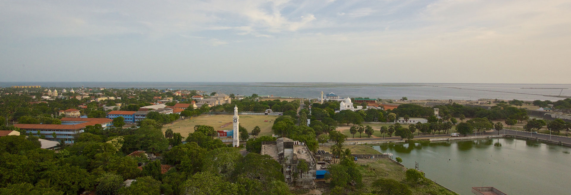 areal view of jaffna