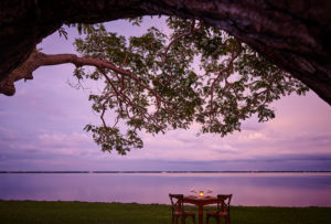 romantic dining by the lake