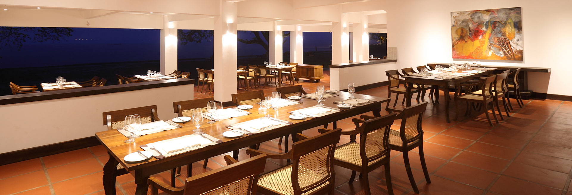 Dining At Blue Lagoon Restaurant