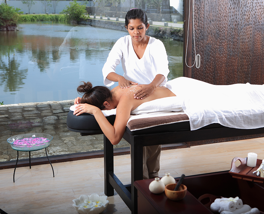 Spa treatment by the lake