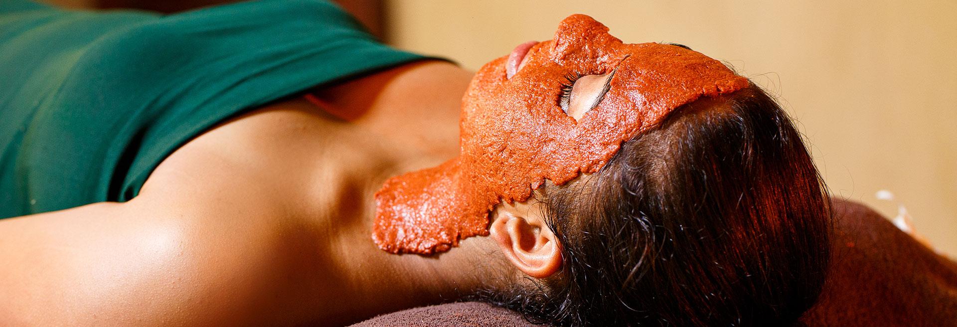 Relaxing facial massage