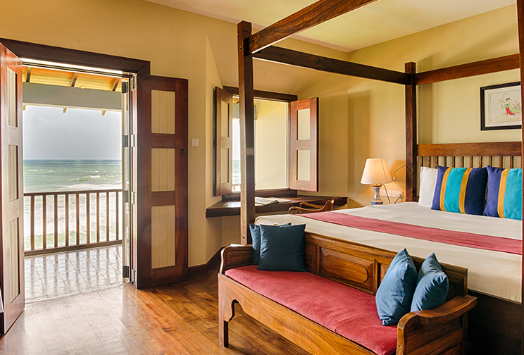 Bedroom and balcony at Jetwing  Lighthouse