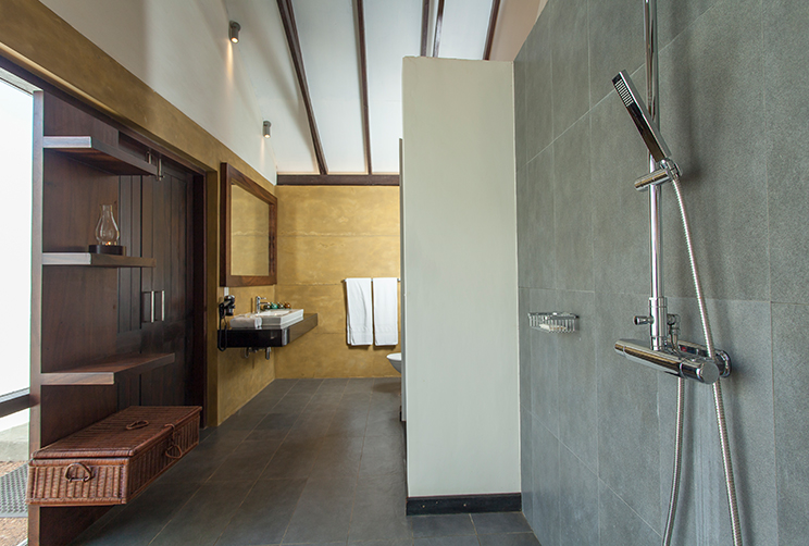 View of the shower area/Bathroom