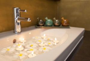 Candle lit Bathtub
