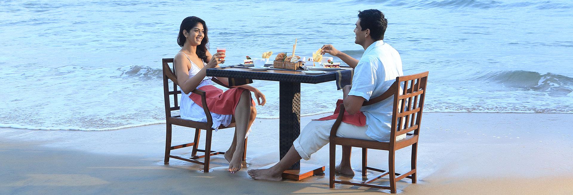 Romantic Dinner On The Sandy Beach
