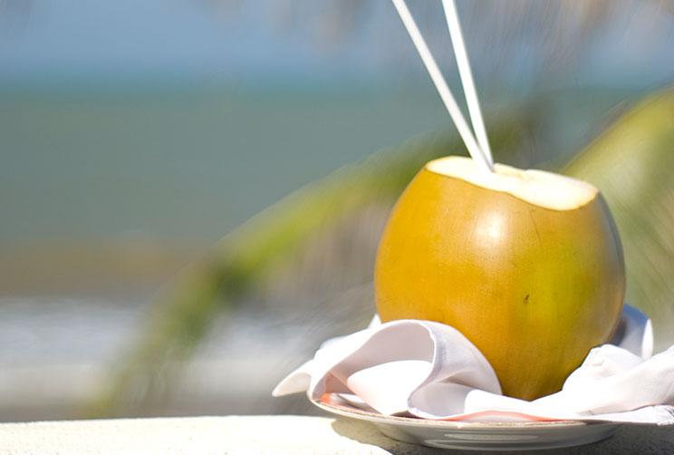 King coconut served