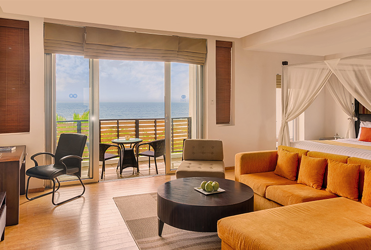 Lounge and Beach View Balcony Seating Area