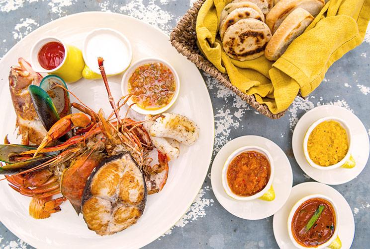 Sri Lankan Seafood Platter
