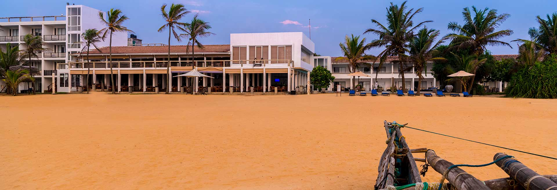 Hotel Exterior from the seashore