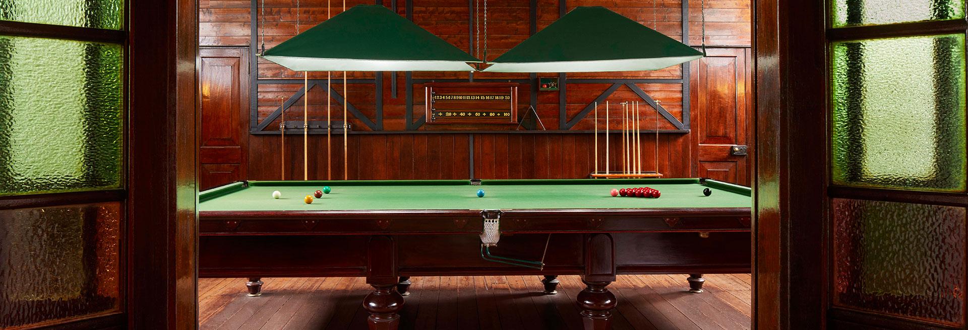 Billiards room entrance