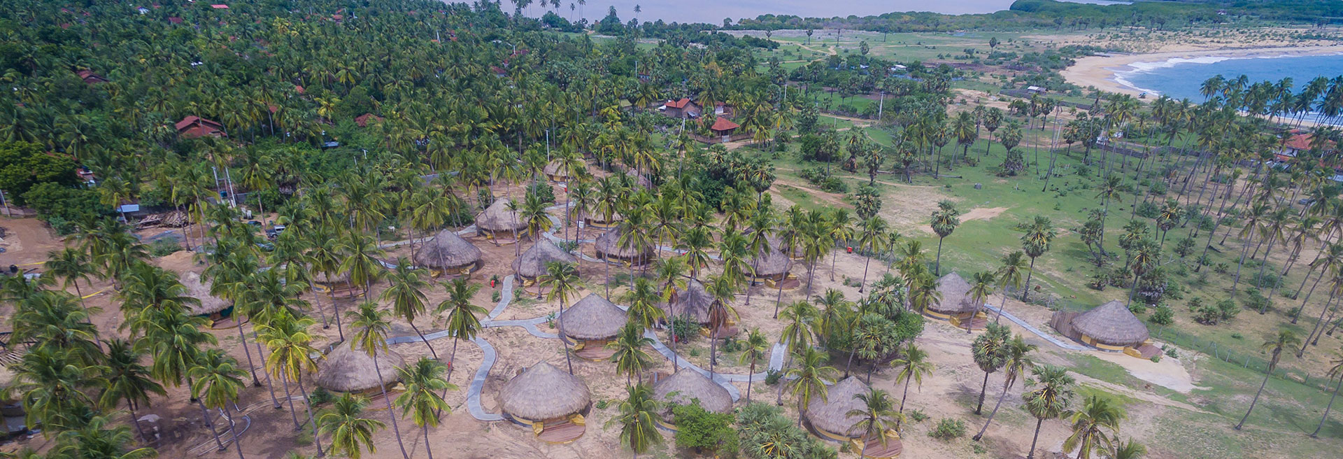 Areal view of the resort
