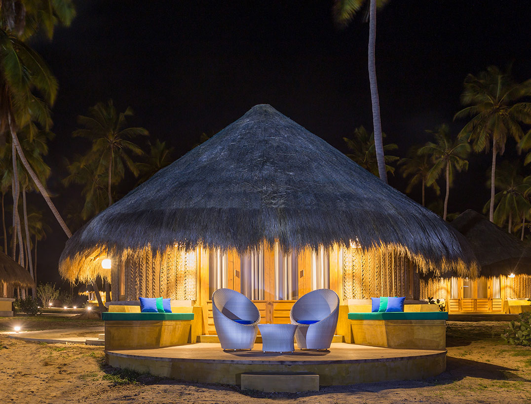 Exterior cabana view during night