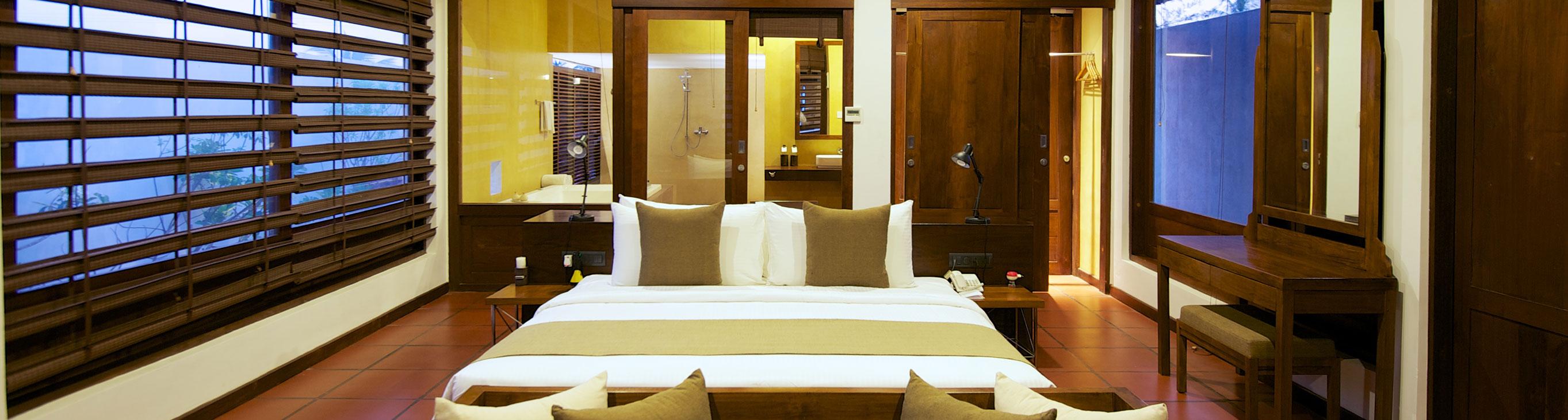 luxury accommodation at the villa