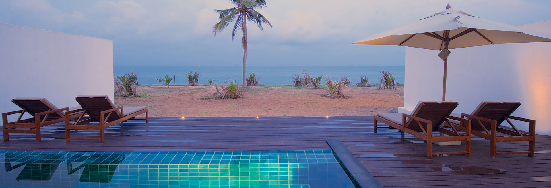 view of the pool facing the beach