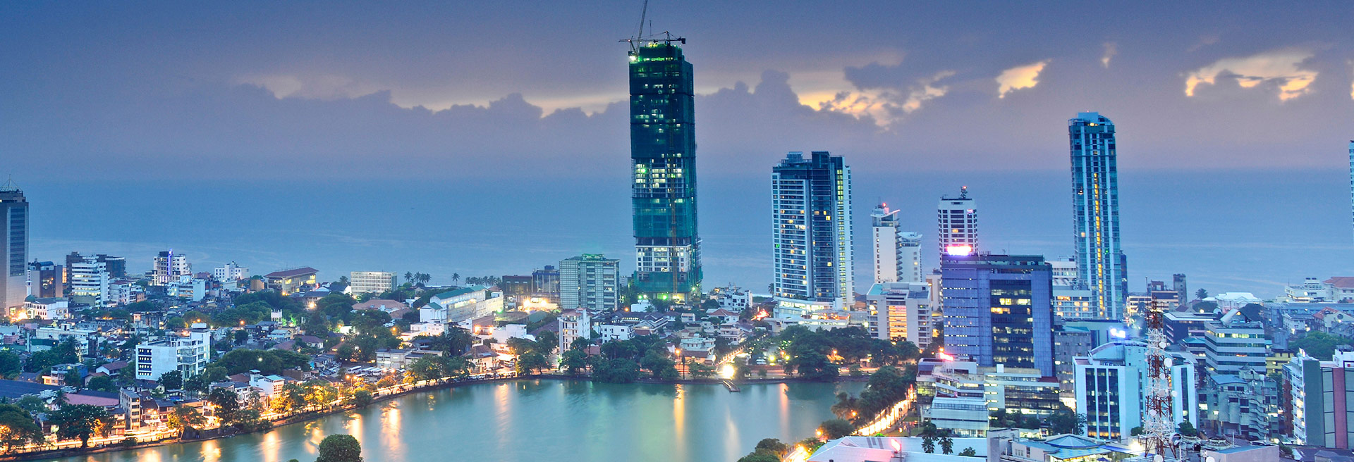 Colombo city during night