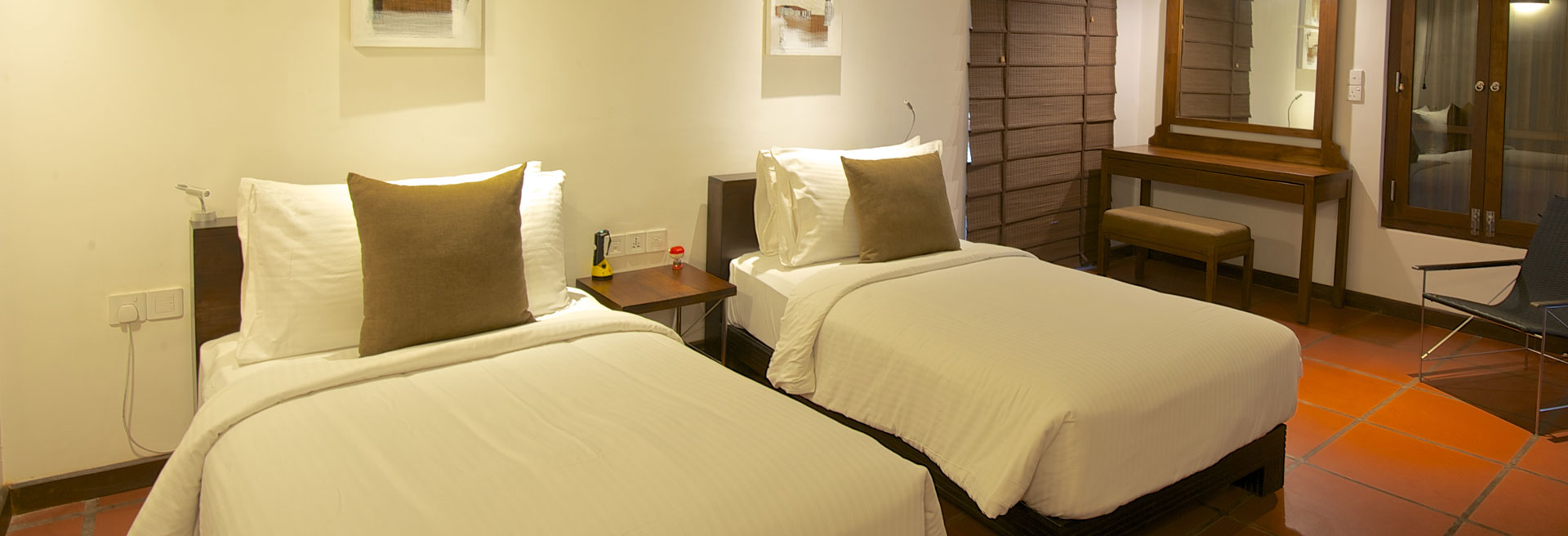 Modern accommodation with queen size bed