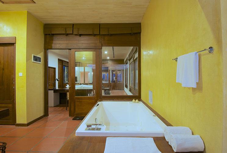 bathroom view of the bathtub