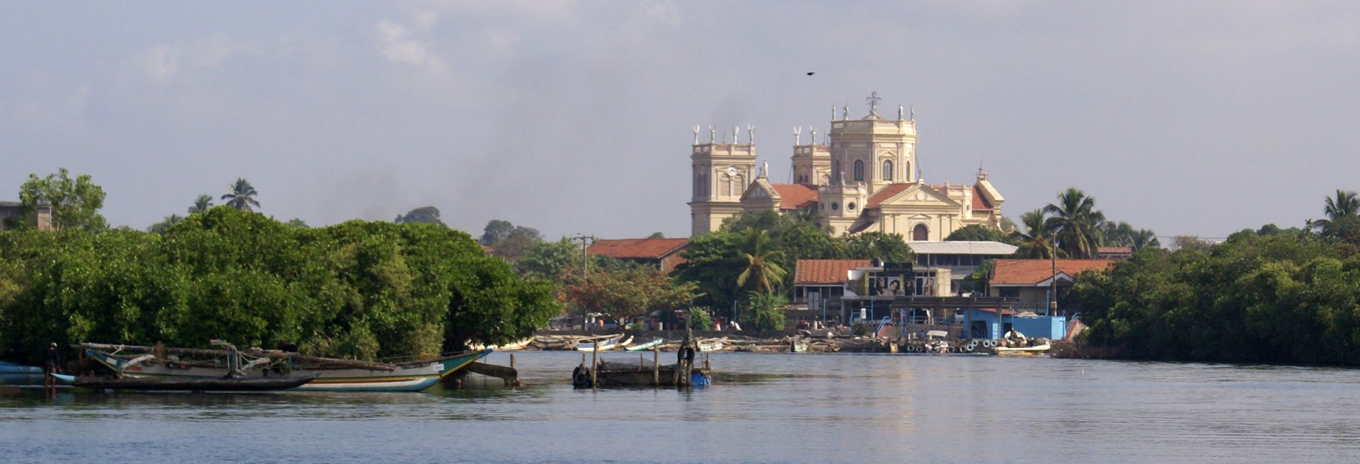 view of the negombo lagoon