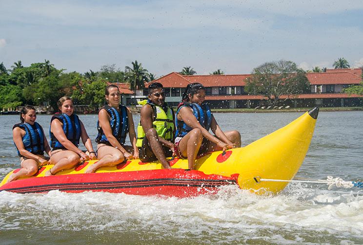 banana boat ride on the lagoon