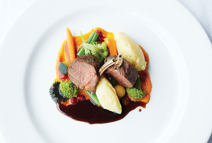 Delicious Lamb Chops Served With Mash Potato And Vegetables