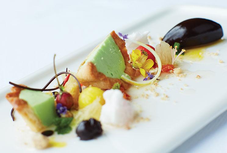 Scrumptious Dessert Served At Restaurant Apsara
