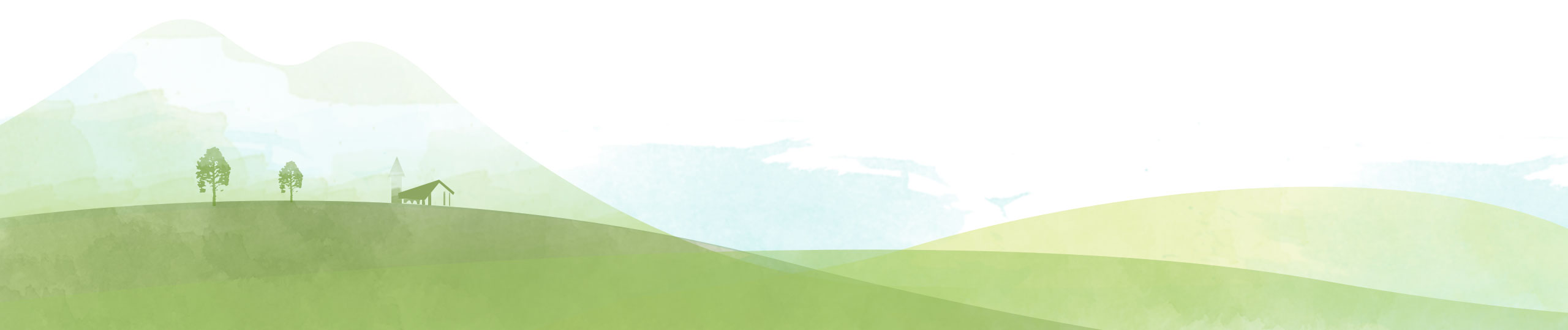 Drawing of the hillside green