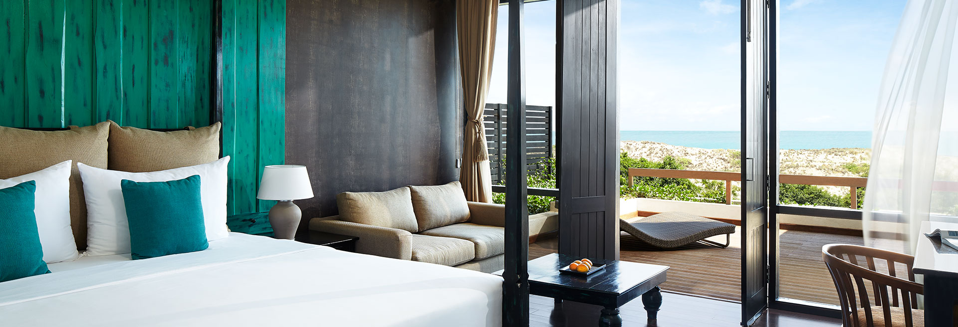 Hotel room with a sea view