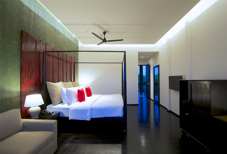 Full view of the superior room at Jetwing Yala