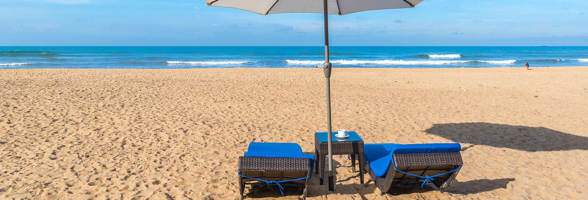 Canopy set on the beach