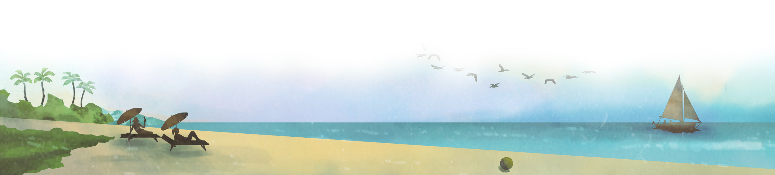 Sketch of the beach