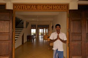 Man greeting guests