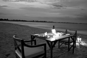 Monochrome by the sea