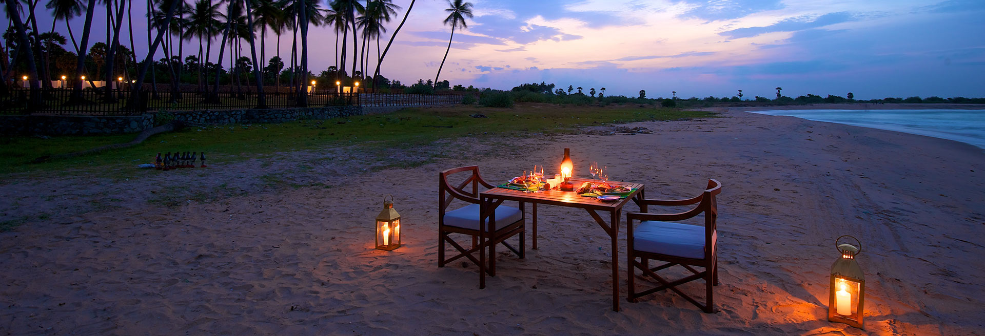 Signature Dining experience on the beach
