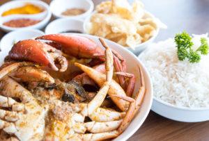 fresh crab dish