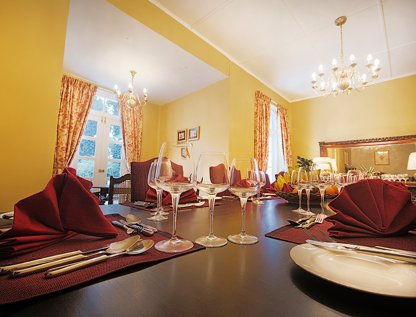 Dining table with cutlery at Strathdon by Jetwing